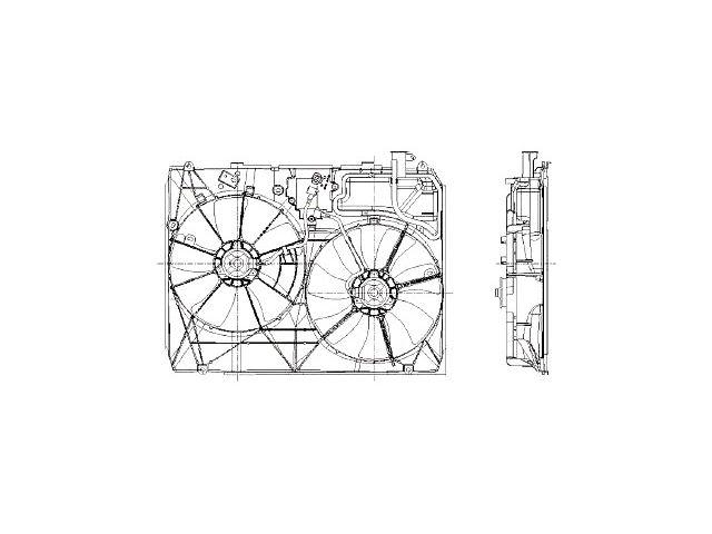 Radiator Fan Assembly For 2004-2005 Toyota Sienna V147VZ