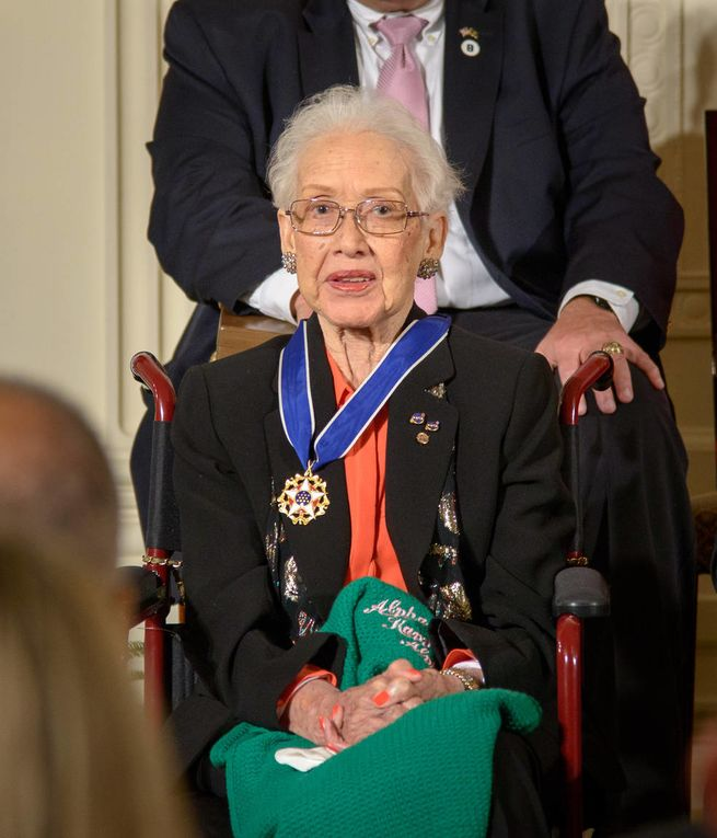 Katherine Johnson Receives Presidential Medal of Freedom International Women's Day