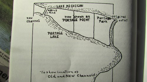 small resolution of map from story of portage showing the location of the old and new
