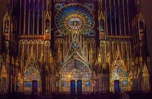 Illuminations de la cathédrale de Strasbourg 2016