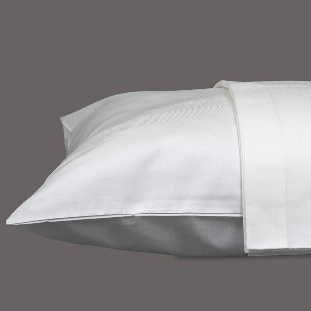savoie white king set of two pillow shams 320 thread count