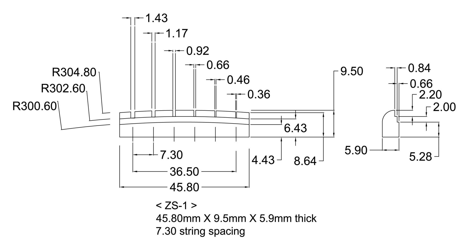 hight resolution of zs 1 slotted replacement nut for gibson