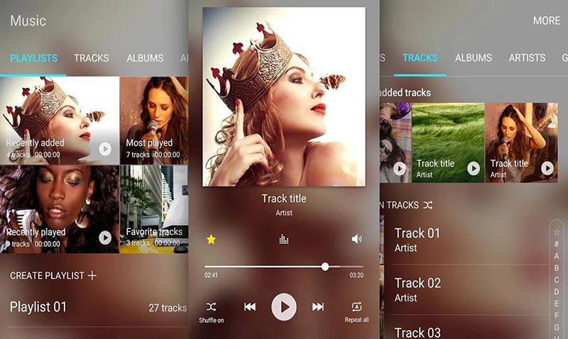 Samsung Music, el nuevo reproductor del S7 llega a Google Play