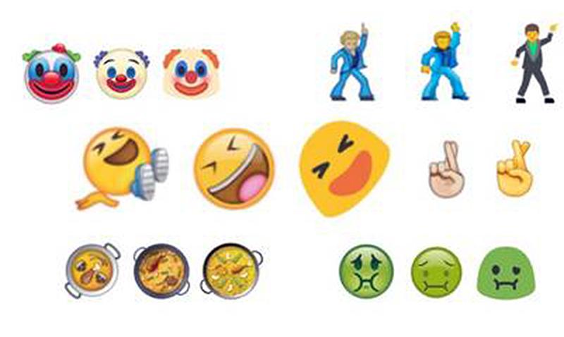 Payasos, selfies y comidas, los nuevos emojis de WhatsApp