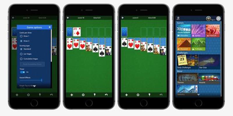 El clásico Solitario de Microsoft llega a iOS y Android
