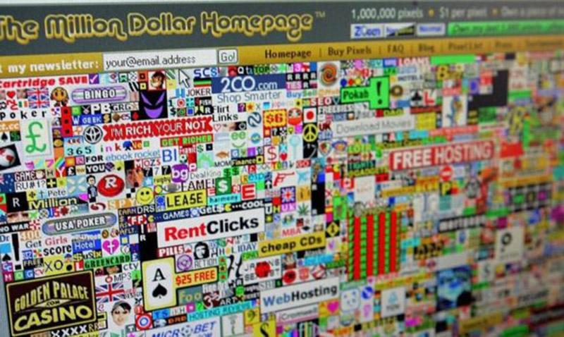 Se hizo millonario en cuatro meses vendiendo su web pixel por pixel