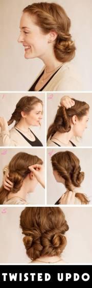 elegant hairstyle with vintage