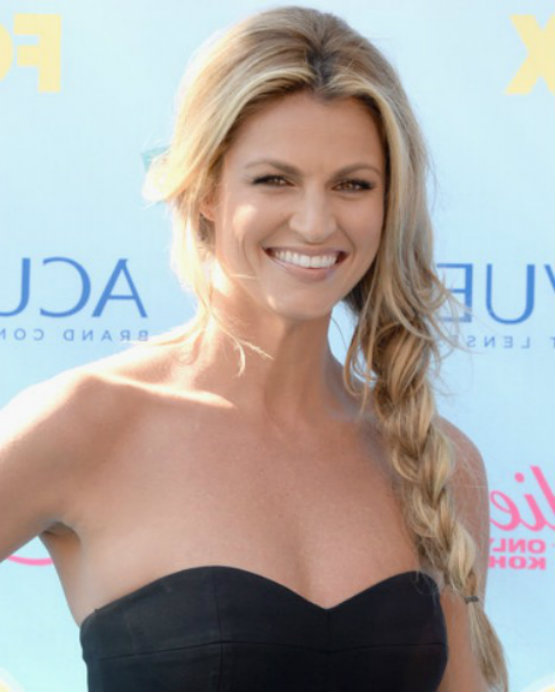 Erin Andrews Side Braid For Cute Thick Hairstyles Latest