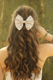 floral hair bow sweet and cool