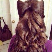 vintage hairbow hairstyles