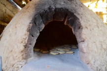 Baking bread in a traditionnal oven