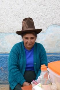 street stall lady - Huari