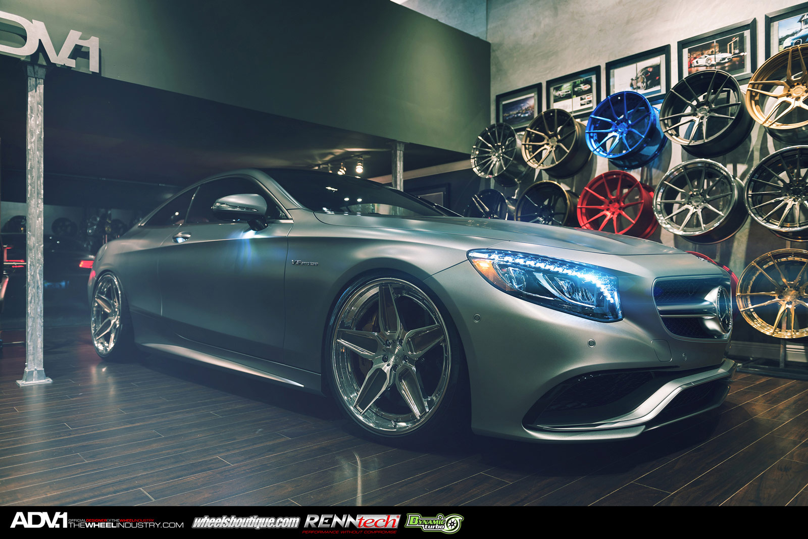 Matte Grey Mercedes Benz S63 Amg Coupe With Adv1 Wheels Gtspirit