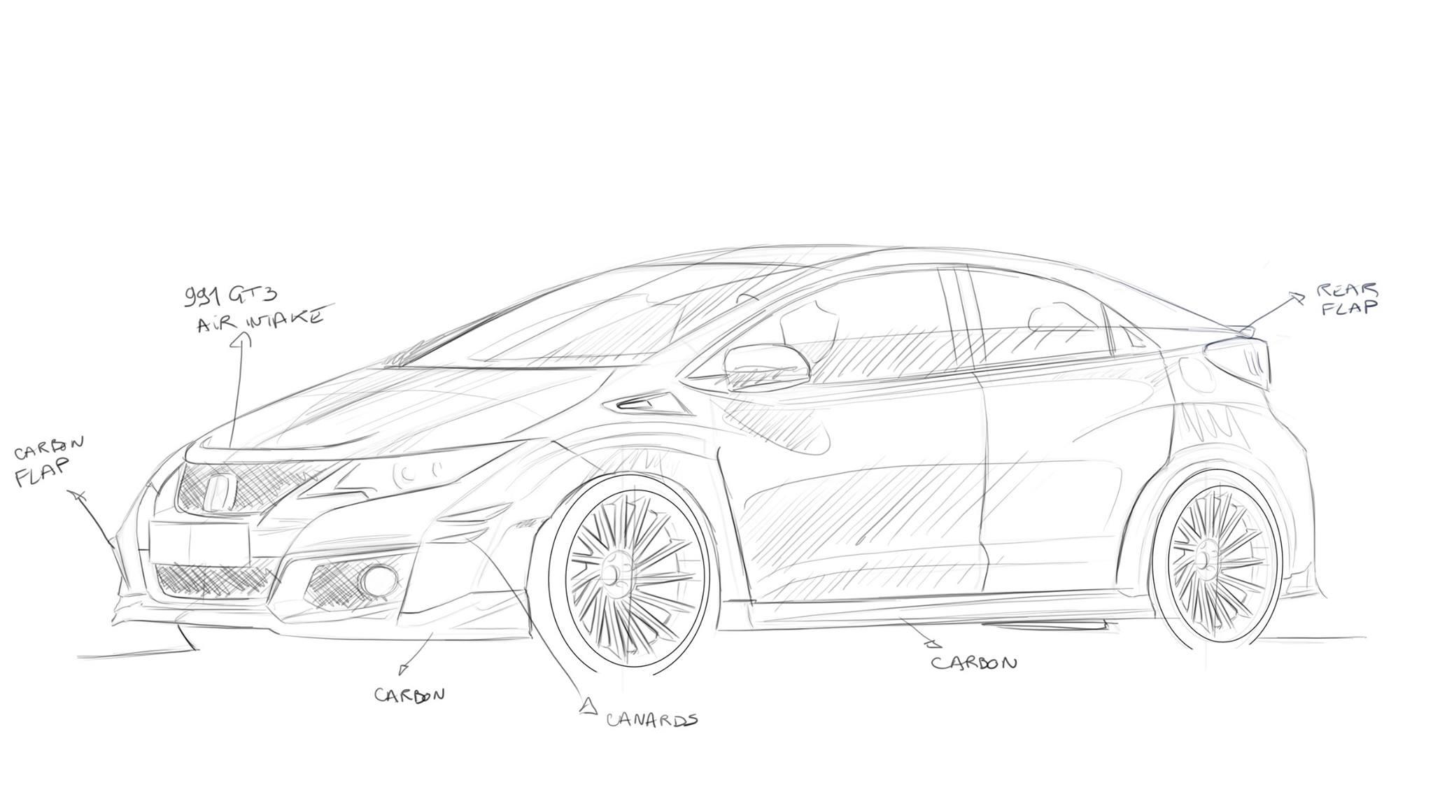 Revozport Honda Civic Type R Design Previews