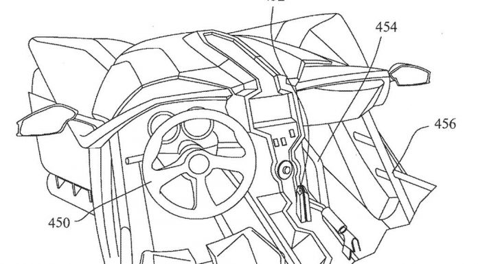 Official Patented Sketches of Polaris Slingshot Sports car