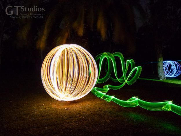 See the light unravelling across the lawn as we learnt new skills at the light painting workshop.