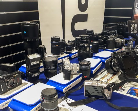 For Graham this is like being a kid in a candy shop - he enjoyed trying some of these lenses on his camera!!