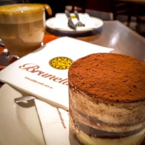 Cafe Brunelli kept us going with coffee and cake - this Tiramisu was delicious - the staff were friendly and very helpful when it came to trying to choose which cake for afternoon tea!!!