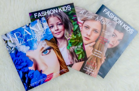 Published in Fashion Kids, A La Mode Child-Teen Magazine and Brand Model Magazine