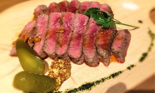 豪州産牛ロース肉のステーキ