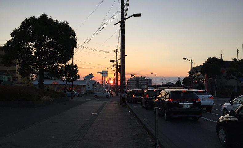 熊本の夕陽