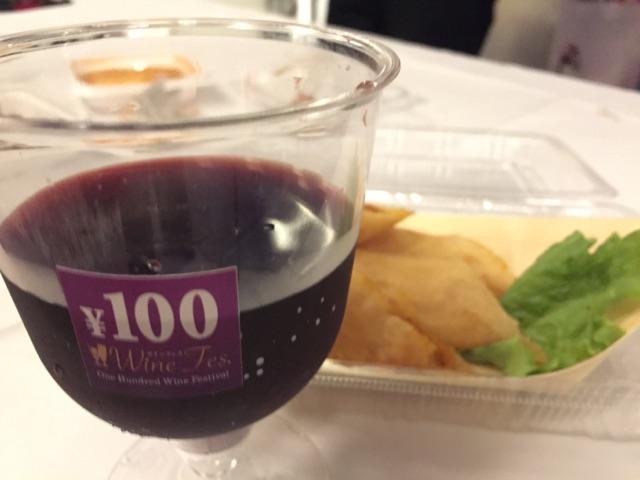 100円ワインフェス_ワインとおつまみ
