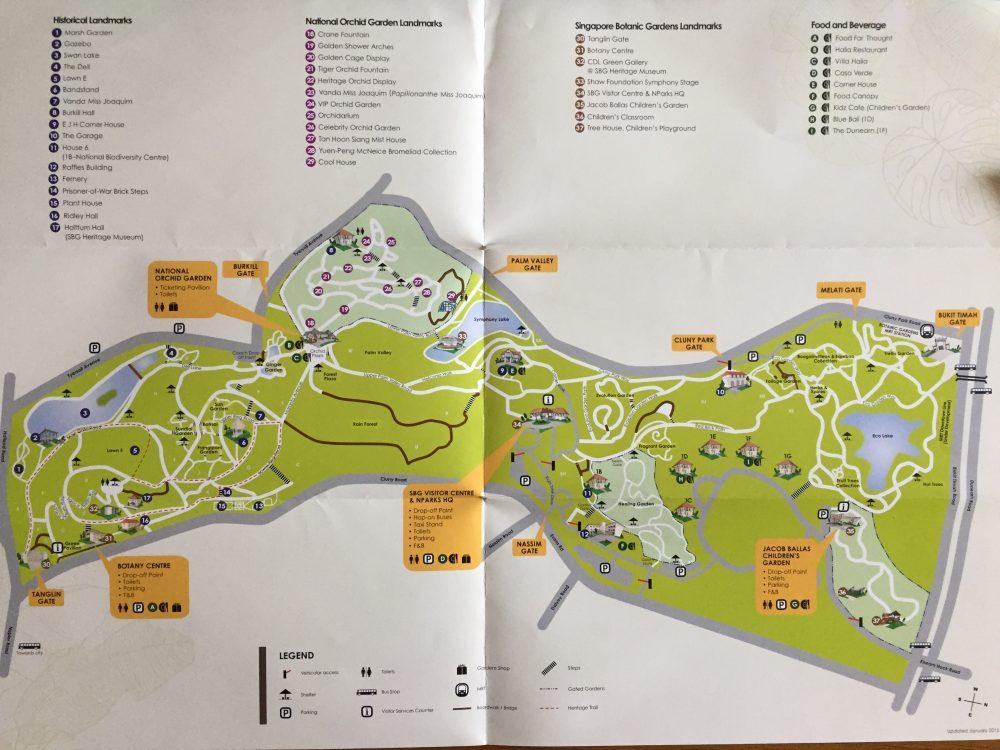シンガポール植物園_マップ