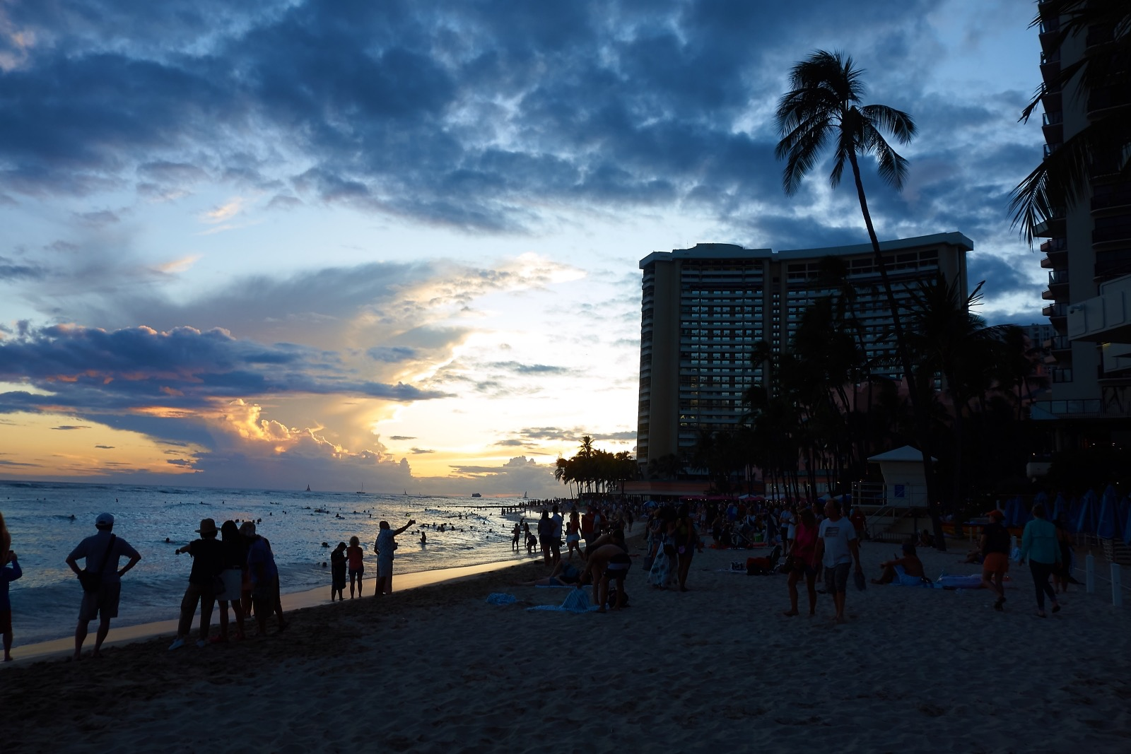 Waikiki Beach Sunset 2