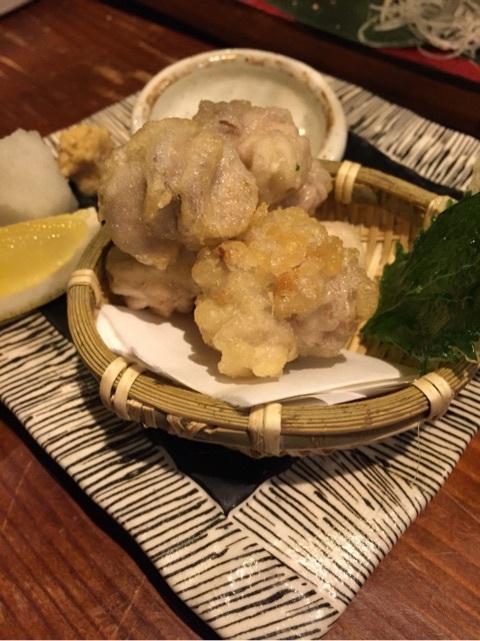 肴や だんじ 白子の天ぷら