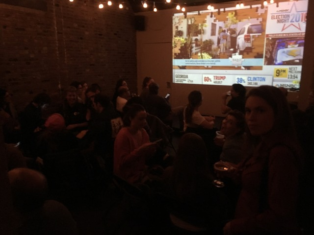 Election watching party in Brooklyn