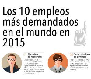 Los 10 empleos mas demandados en 2015