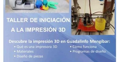 Taller de iniciación a la impresión 3D en Mengíbar
