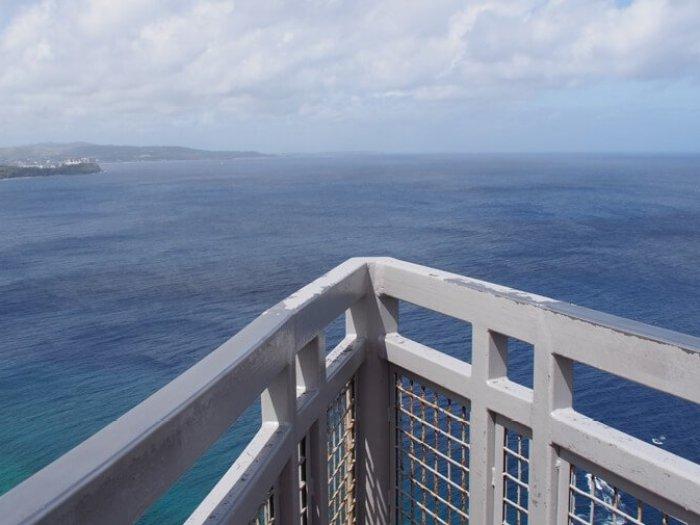 恋人岬展望台の先端
