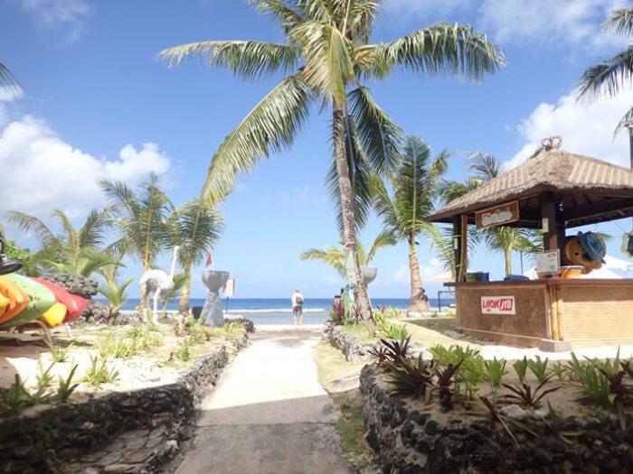 ニッコーグアムのビーチ