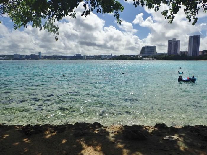 ヒルトングアムのビーチ