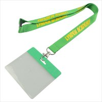 Lanyard name badge holder | Breakaway imprinted name badge ...