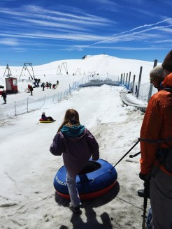 15. For a short while, visitors can also slide down the snow slopes in small snow tubes for free. It is a short distance down and up – with a conveyor belt of sorts for the latter – and the family had a great time just frolicking in the ice and snow (even though the sun was blazing hot).