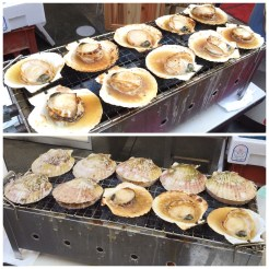 5. Along Dōtonbori was also a stall selling freshly-grilled scallops. Fresh, as the chef shucked the white flesh from its shell, returned it to the shell warming on a bed of charcoal, before marinating it with butter, garlic, and soya sauce.