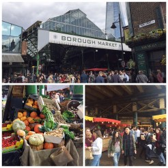 8. Borough Market was bustling with the sale of food and beverages, produce, and other confectioneries. It is located next to London Bridge (not to be confused with the Tower Bridge).
