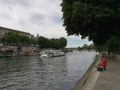 2. The rivers and the canal banks are sites for relaxation. We also took an hourlong cruises along the river Seine, admiring sights and going under multiple bridges.