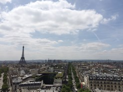 17. A view of the Eiffel Tower from the top of the arch.