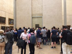 "22. Unsurprisingly, the ""Mona Lisa"" was the most popular painting on display. Here is a photograph of different photographers taking a photograph of da Vinci's masterpiece."