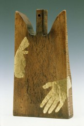 "From ""Our Mother Mary Found"" sculpture and installation work, 2003."