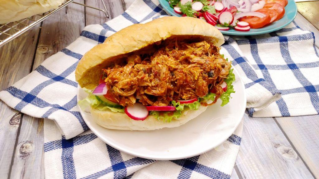 The Best Pan con Pollo   Shredded Chicken Sandwich