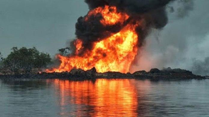 Oil Thieves Set Agip Pipeline Ablaze In N/delta