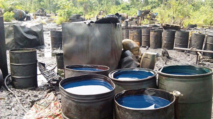 Troops dismantle illegal refineries, arrest oil thieves, others in S/South