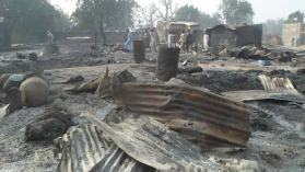 Image result for Three killed, 150 homes razed in Boko Haram raid in Borno