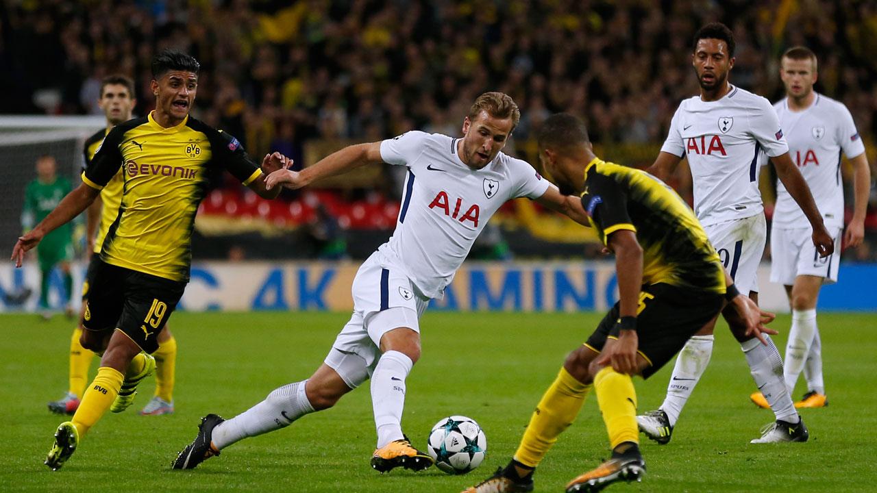 000 SE5JY - Kane downs Dortmund as Spurs end Wembley woe