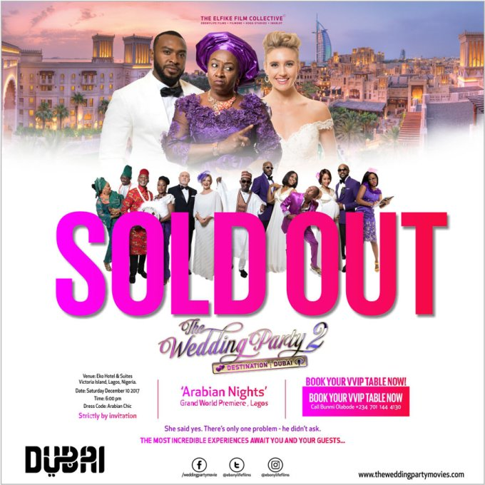 "soldout - ""Wedding Party 2"" World Premiere Sells Out Four Weeks Ahead Of Schedule"