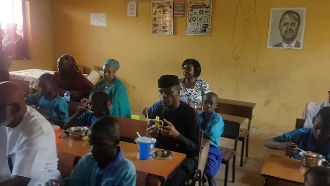 Image result for Nigeria's school feeding programme will be the largest in Arica - Osinbajo